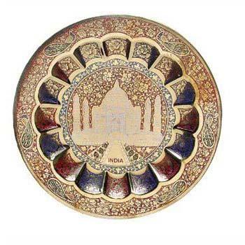 Brass Taj Mahal Wall Plate