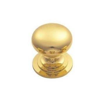 Polished Brass Round Knobs