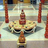 Indian Wedding Garba Pots Decorations