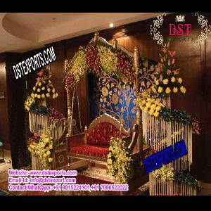 Indian Wedding Gold Jhula Swing Set