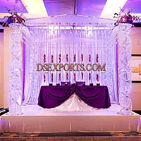 Glass Crystal Mandap Set