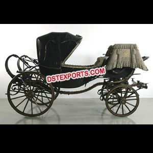 Royal Black Horse Drawn Buggy Carriage