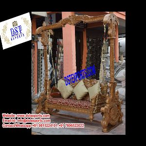 Royal Indian Wooden Carved Swing