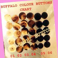 Buffalo Horn Blank Button 03