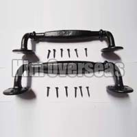 Black Iron Door Handle Set