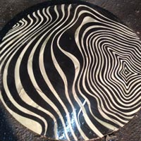 Zebra Design Stone Table Top
