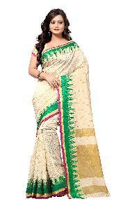Banarasi Pyramid Green Silk Saree