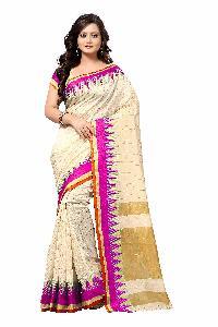 Banarasi Pyramid Pink Silk Saree