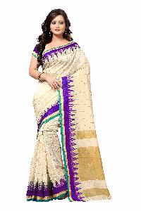 Banarasi Pyramid Purple Silk Saree