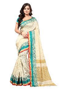 Banarasi Square Blue Silk Saree