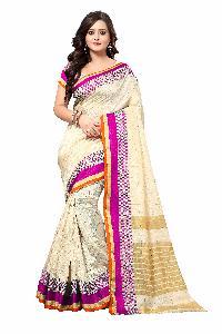 Banarasi Square Pink Silk Saree