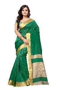 Crazy Green Silk Saree