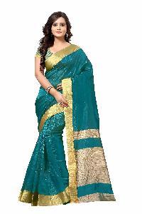 Crazy Blue Silk Saree