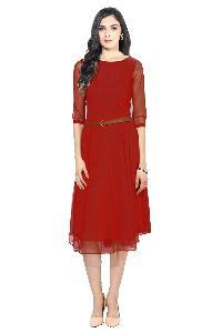 D-04 Red Moon Light Western Dress