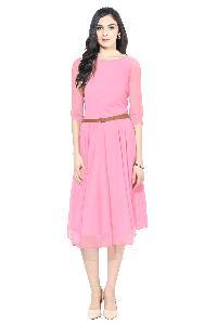 D-06 Pink Moon Light Western Dress