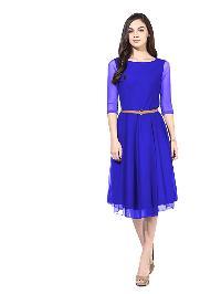 D-29 Moonlight Light Blue Western Dress
