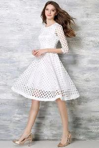D-37 Maxican White Western Dress