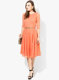 D-50 Moonlight Orange Western Dress