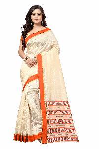 Rajwadi Orange Silk Saree