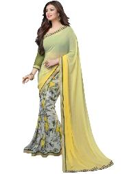 Silk Saree (A3 yellow print)