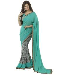 Silk Saree (A4 Blue)