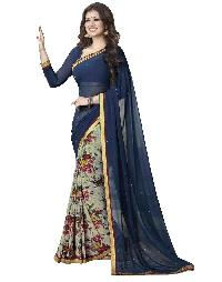 Silk Saree (A4 Blue Print)