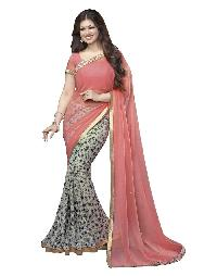 Silk Saree (A4  Pink Best)