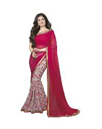 Silk Saree (A4 Pink Flower)