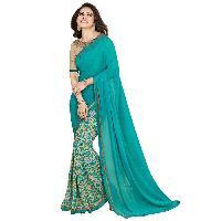 Silk Saree (A7 Firozi)