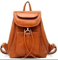 Ladies Leather Backpack Bags