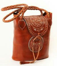 Ladies Leather Hand Braided Bag