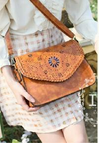 Ladies Leather Laser Cut Bag