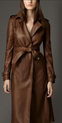 Ladies Leather Trench Coat