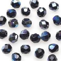 faceted glass bead