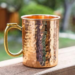 COPPER MUG HEALTH BENEFITS WITH BRASS HANDLE.