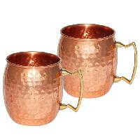 Copper Mug With Brass Handle 16Oz
