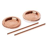 Copper Coaster With Straws