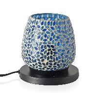 Oval Table Lamp In Mosaic