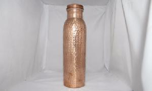 Traveller's Pure Copper Water Bottle for Ayurvedic Health.