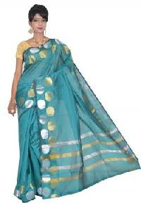 Blue Chanderi Silk Saree