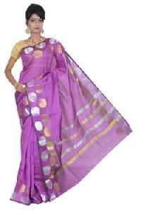 Purple Chanderi Silk Saree