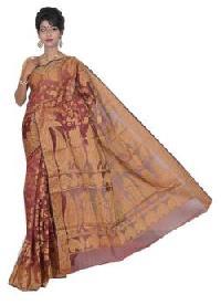 Maroon Chanderi Silk Saree