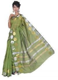 Green Chanderi Silk Saree