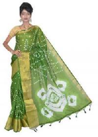 Green Manipuri Kota Cotton Saree