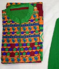 Ladies Green & Orange Embroidered Unstitched Suits