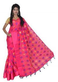 Elegant Pink Silk Cotton Saree