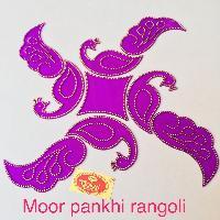 Mor Pankhi Acrylic Rangoli
