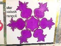 Star Kalash Acrylic Rangoli