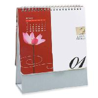 13 Page Spiral Table Calendar