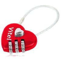 3 Dial Heart Shaped Pad Lock